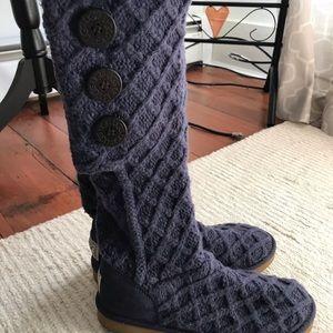 Purple cardy Ugg boots